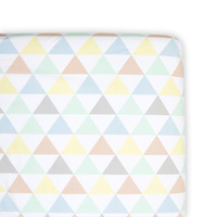 Bassinet Fitted Sheet - Tri Metric
