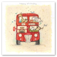 Happy Birthday Card - All Aboard