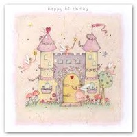 Happy Birthday Fairy Castle Card
