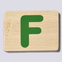Wooden Letter F