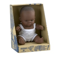 Miniland Doll 21cm - African Baby Girl