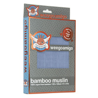 Bamboo Muslin Wrap - Denim