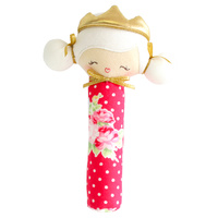 Princess Penelope Squeaker - Red Floral