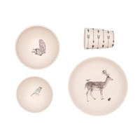 Bamboo 4 pc Set - Forest Supper