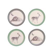 Bamboo 4 PK Plates - Bear and Deer