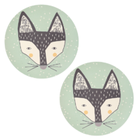 Bamboo 2 pk Large Plates - Fox