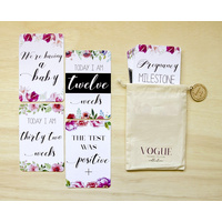 Pregnancy Milestone and Moment Cards - Vogue Floral Collection
