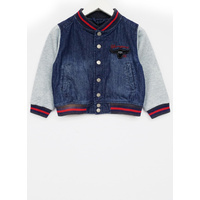 Denim Mix Varsity Jacket
