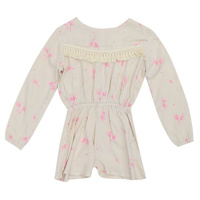 Frenchie Suit - Fern Print in Little Pig Pink