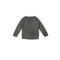 Fisherman Sweater - Pewter with Gold
