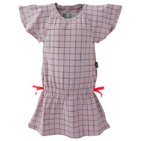 Batwing Dress - Lilac + Deep Sea Grid Print