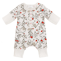 Bamboo LS Romper - Forest Friends