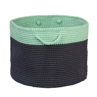 Charcoal and Mint Storage Basket