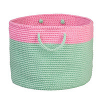 Pink and Mint Storage Basket