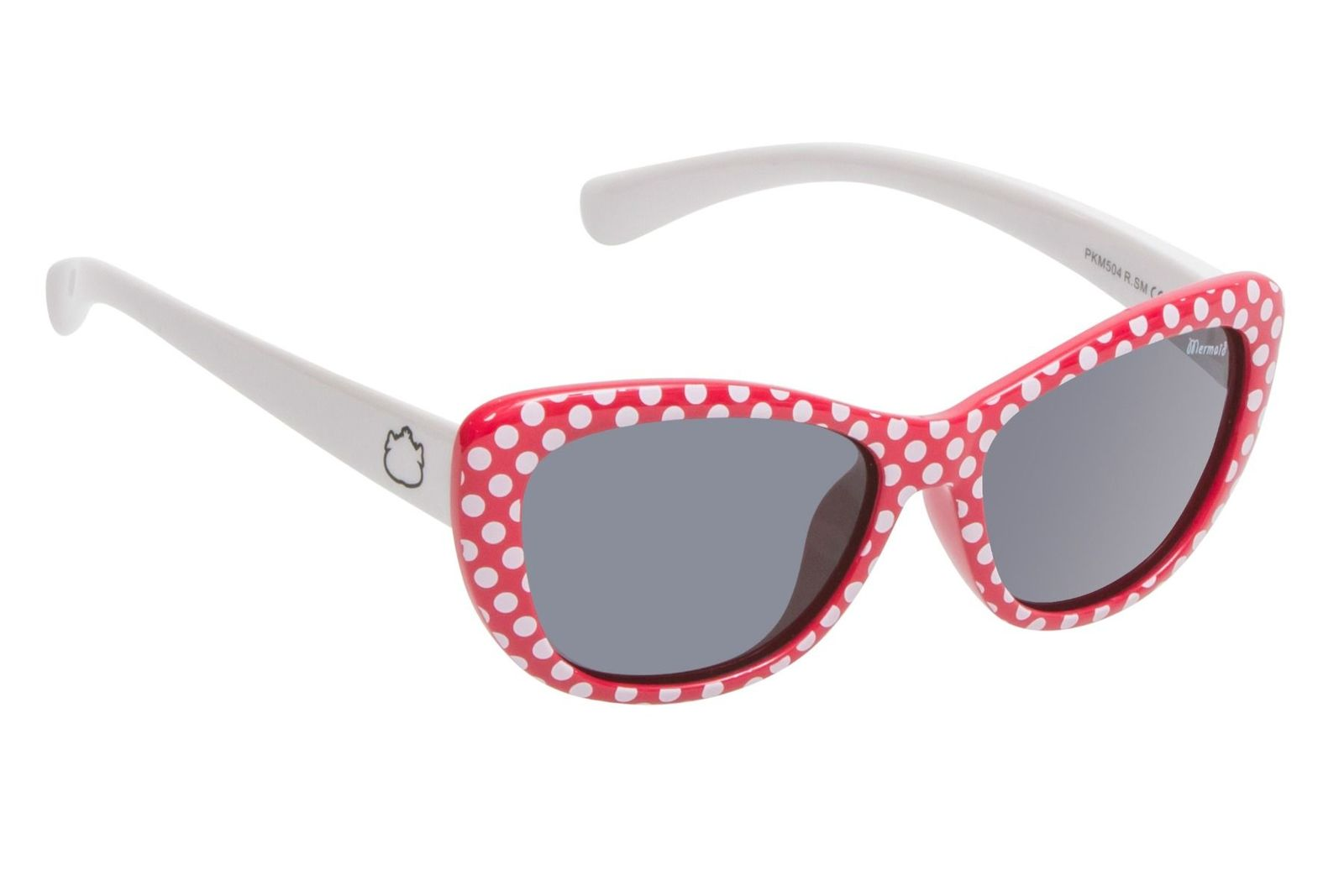 Red Frame With White Dots Smoke Lens Sunglasses