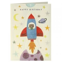 Happy Birthday Card - Rocket