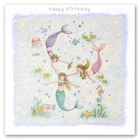 Happy Birthday Card - Mermaids