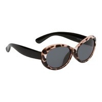 Cheetah Print Brown Frame Smoke Lens Sunglasses