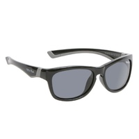 Black And Grey Frame Smoke Lens Sunglasses