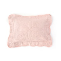 Quilted Cot Pillowcase With Insert - Shell Pink