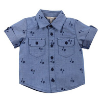 Dixon Palm Print Chambray Shirt