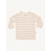 Long Sleeve Top - Chalk/Rose Stripe