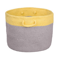Grey and Lemon Storage Basket
