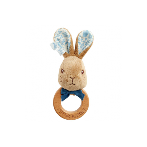 Wooden Ring Rattle - Peter Rabbit