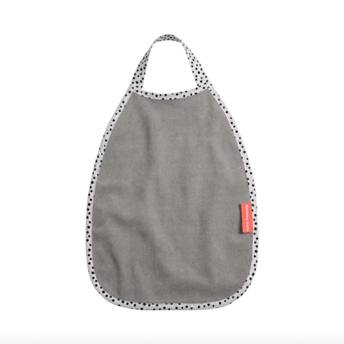 Done By Deer Soak Proof Reversible Bib - Happy Dots Grey