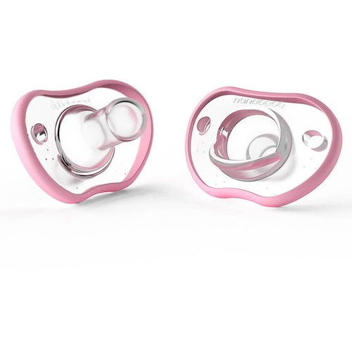 Flexy Pacifiers 2 Pack 0-3mths - Pink
