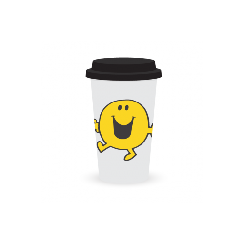 Mr Happy Double Wall Travel mug