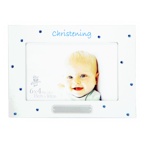 Christening Frame - Blue