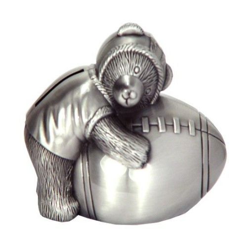 Pewter Bear With Football
