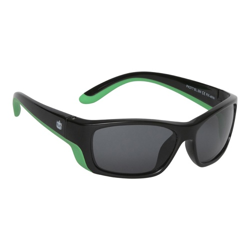 Black And Green Frame Smoke Lens Sunglasses