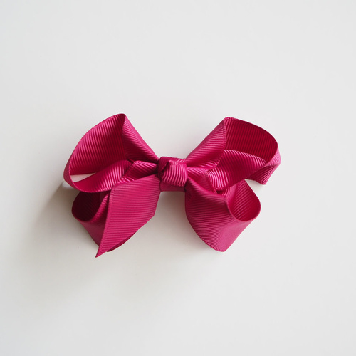 Snuggle Medium Bow Clip - Burgundy