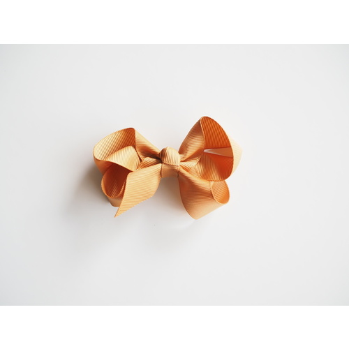 Snuggle Medium Bow Clip - Mustard
