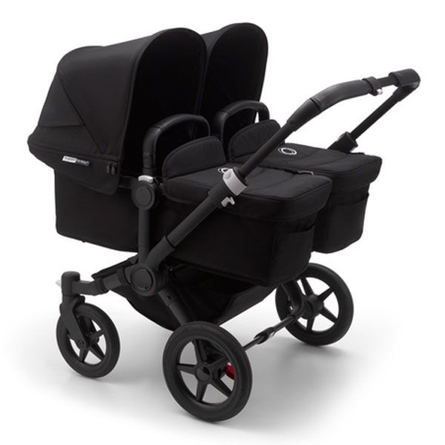 Bugaboo Donkey 3 Twin Pram - Black Frame And Black Fabrics