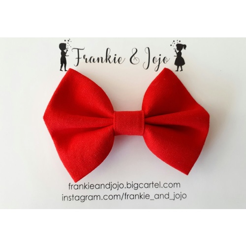 Midi Bow Clip - Red
