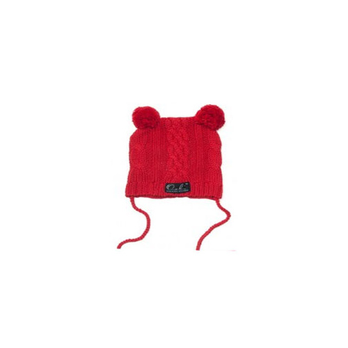 Beanie with Pom Pom Bear Ears