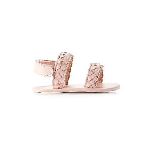 Allegra Plaited Sandal - Pale Pink